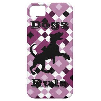 Skraj purpurfärgat fodral för diamantmönsteriPhone iPhone 5 Cover