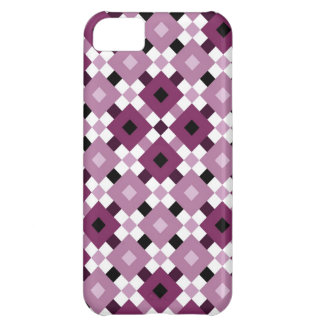 Skraj purpurfärgat fodral för diamantmönsteriPhone iPhone 5C Mobil Skal