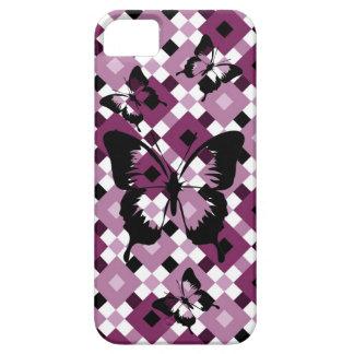 Skraj purpurfärgat fodral för diamantmönsteriPhone iPhone 5 Skydd