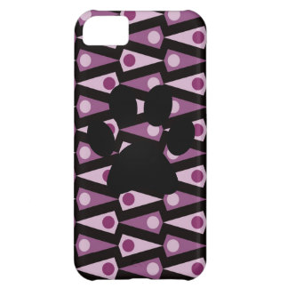 Skraj purpurfärgat fodral för triangelmönsteriPhon iPhone 5C Mobil Fodral