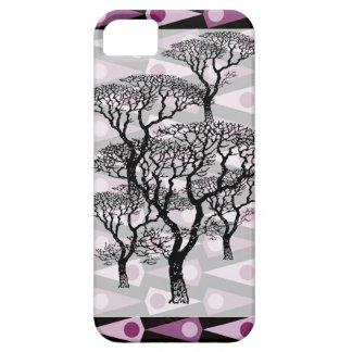 Skraj purpurfärgat fodral för triangelmönsteriPhon iPhone 5 Skydd