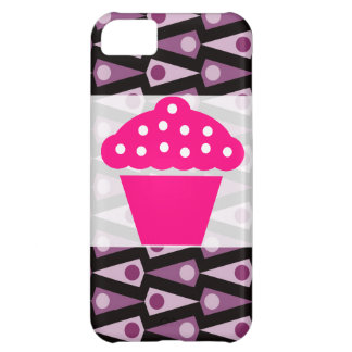 Skraj purpurfärgat fodral för triangelmönsteriPhon iPhone 5C Mobil Skal