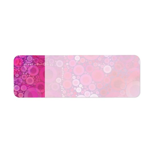 Skraj purpurfärgat rosa koncentriskt cirklar returadress etikett