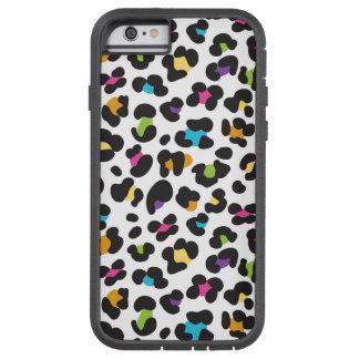 skraj regnbågeleopardmönster tough xtreme iPhone 6 fodral