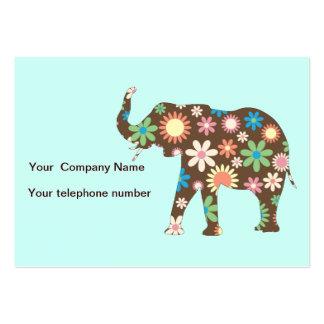 Skraj retro blom- beställnings- visitkort för elef