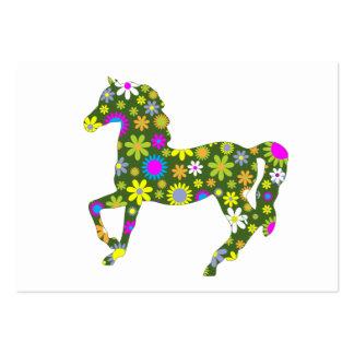 Skraj retro blom- kråma sig hästvisitkort visitkort mall