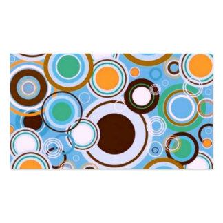 Skraj Retro cirklar brunt för mönsterkrickaAqua Visitkort