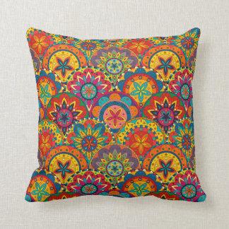 Skraj Retro färgrikt Mandalamönster Dekorativ Kudde