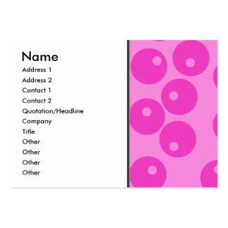 Skraj Retro modell för shock rosa Visitkort Mallar