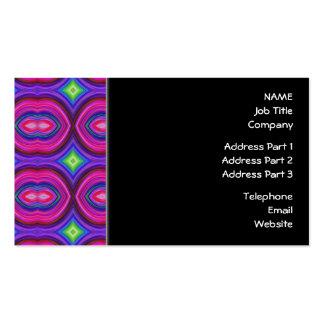 Skraj Retro mönster. Rosor purpurfärgat och Set Av Standard Visitkort