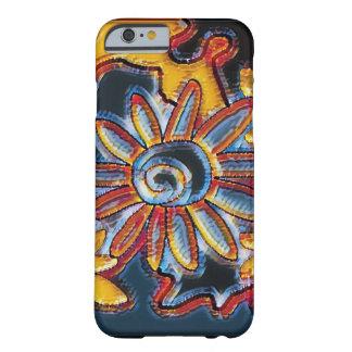 Skraj retro multifärgadblommaiphone case barely there iPhone 6 fodral