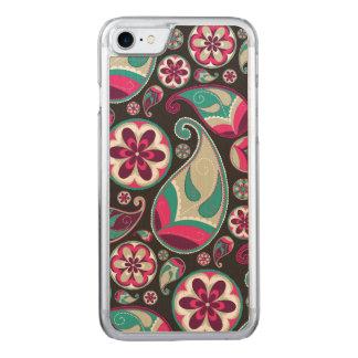 Skraj Retro Paisley mönster Carved iPhone 7 Skal