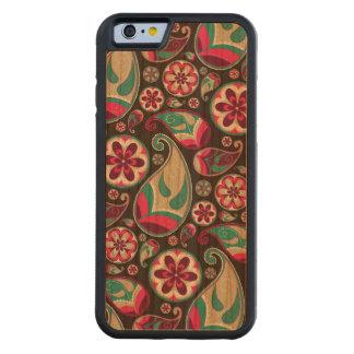 Skraj Retro Paisley mönster iPhone 6 Bumper Fodral I Körsbärsträ