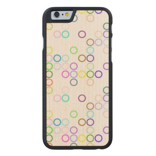 Skraj ringar carved® lönn iPhone 6 slim fodral
