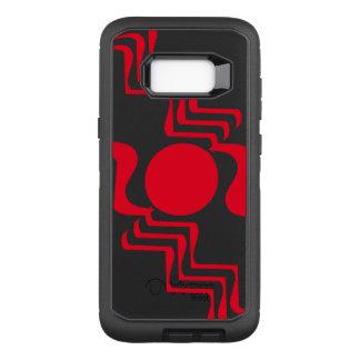 Skraj röd svartabstrakt 4Jack OtterBox Defender Samsung Galaxy S8+ Skal