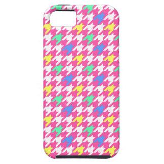 Skraj rosa fodral för Houndstooth mönsteriPhone 5 iPhone 5 Case-Mate Skal