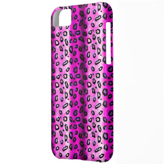Skraj rosa fodral för LeopardiPhone 5 iPhone 5C Fodral