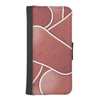 Skraj rosa potatis iPhone SE/5/5s plånboksfodral