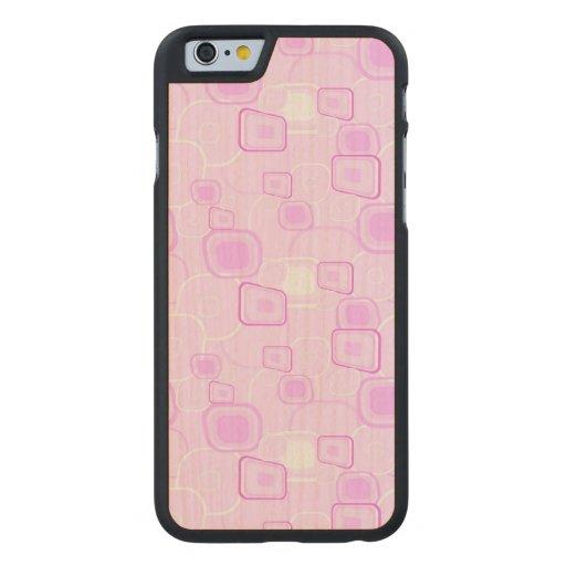 Skraj rosor carved® lönn iPhone 6 slim fodral