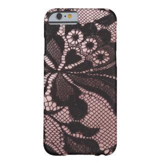 Skraj rosor & svart fodral för snöreiPhone 6 Barely There iPhone 6 Skal