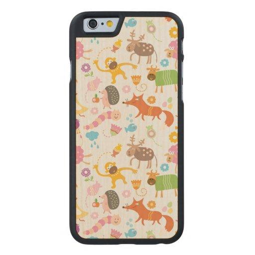 Skraj skog carved® lönn iPhone 6 slim fodral