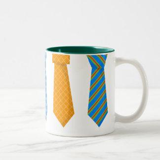 Skraj slipsar Två-Tonad mugg