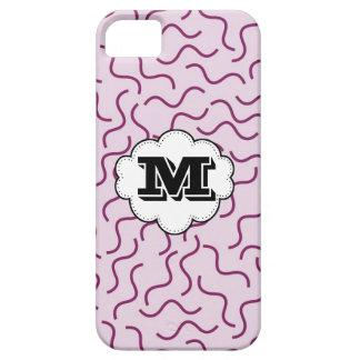 Skraj Squiggly iPhon för Monogram för linjerlilamö iPhone 5 Case-Mate Cases