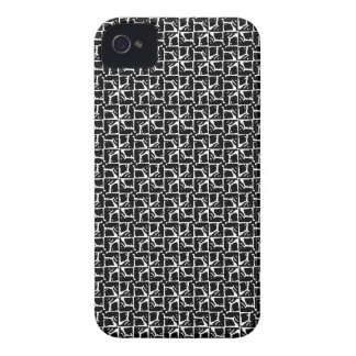 Skraj svartvit mönsterblackberry fodral Case-Mate iPhone 4 fodral