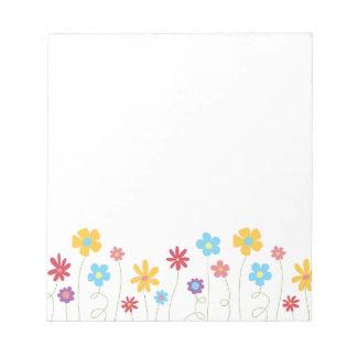 Skraj vår blommor anteckningsblock