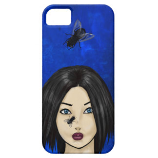 Skrämmd flicka med Blowflies (blåttbakterier) iPhone 5 Case-Mate Fodral