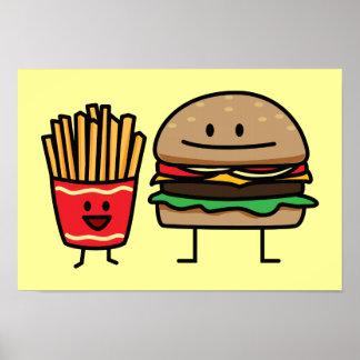 Skräp för hamburgare- och småfisksnabbmatbullen poster