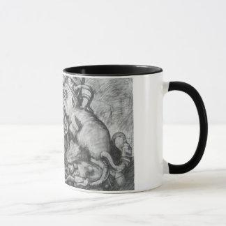 skräp- mugg för kaffe för erasvartfågel
