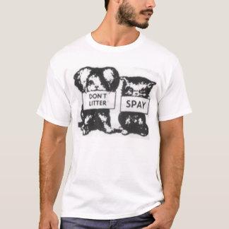 Skräpa ner inte Spay T-shirts