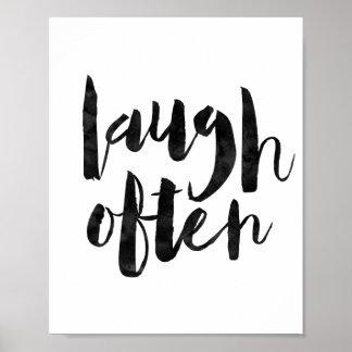 Skratt ofta poster