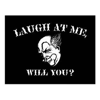 Skratt på mig, ska dig? vykort