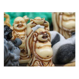 Skratta Buddha Vykort
