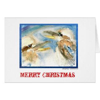 Skratta den Kookaburra julkortet Hälsningskort