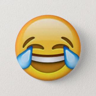 Skratta emoji klämma fast standard knapp rund 5.7 cm
