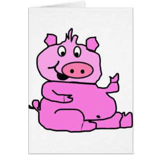 Skratta grisen notera kort