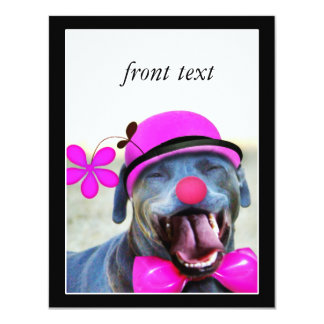 Skratta hunden 10,8 x 14 cm inbjudningskort