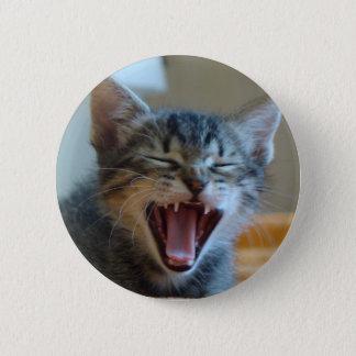 Skratta kattungen standard knapp rund 5.7 cm