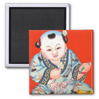 Skratta kinesisk lycka till Buddha för nytt år Magnet