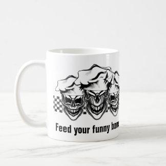 Skratta kockdöskallar kaffemugg
