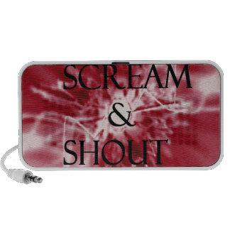 Skri & rop laptop högtalare