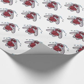 Skriande kaninkanin med det brutna hjärtamönster presentpapper