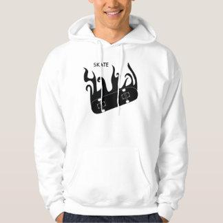skridskohoodie sweatshirt med luva