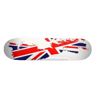 Skridskon för kartaUK-flagga stiger ombord Old School Skateboard Bräda 21,6 Cm