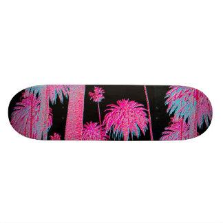 Skridskon för neonglödpalmträd stiger ombord skateboard bräda 21,5 cm