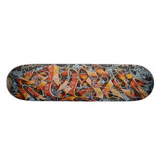 Skridskon för Urban stiger ombord den abstrakt gra Old School Skateboard Bräda 18 Cm