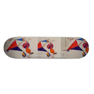 Skridskon stiger ombord för barn old school skateboard bräda 18 cm